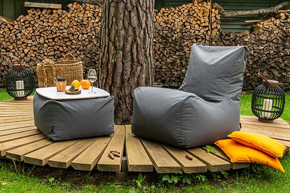 Sitzsäcke aus dem Stoff Colorin – die praktische Wahl für die Outdoor-Saison!