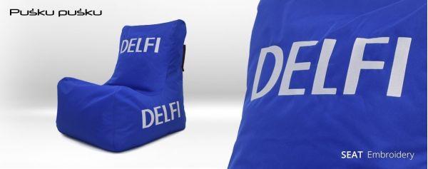 Pufu izšūšana DELFI
