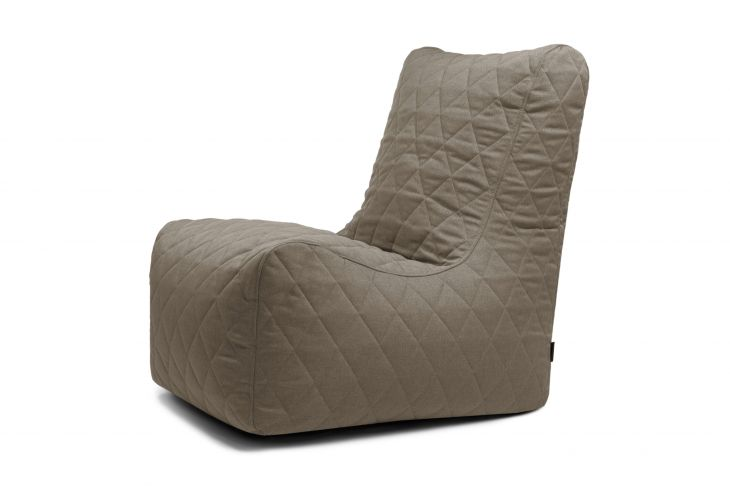 Bean bag Seat Quilted Nordic Concrete