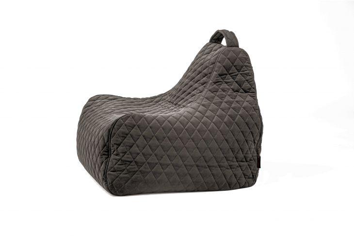 Sitzsack Bezug Game Lure Luxe grau