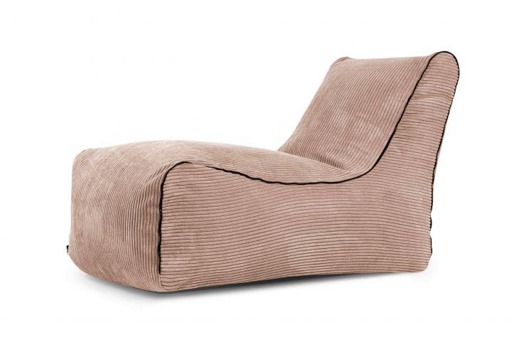 Sitzsack Bezug Lounge Zip Waves beige