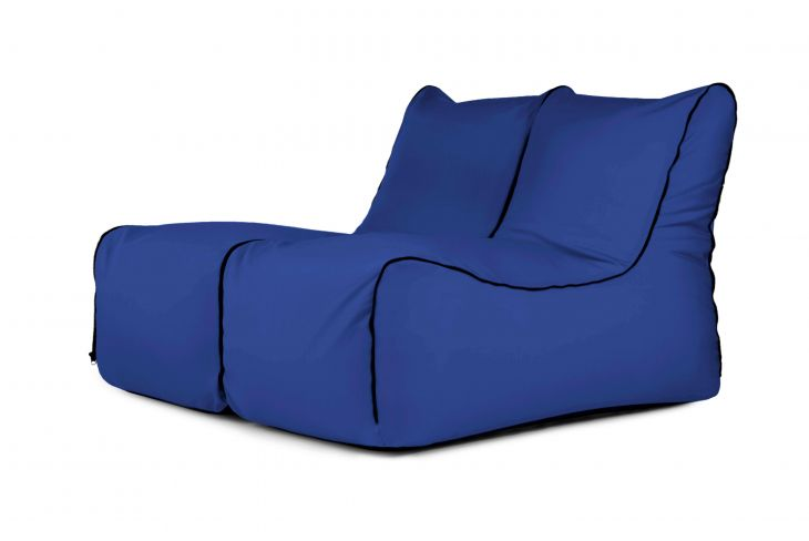 Sitzsack Set - Set Lounge Zip 2 Seater Colorin Blue