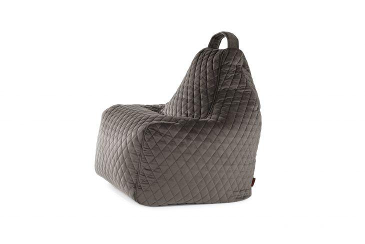 Sitzsack Bezug Play Lure Luxe grau