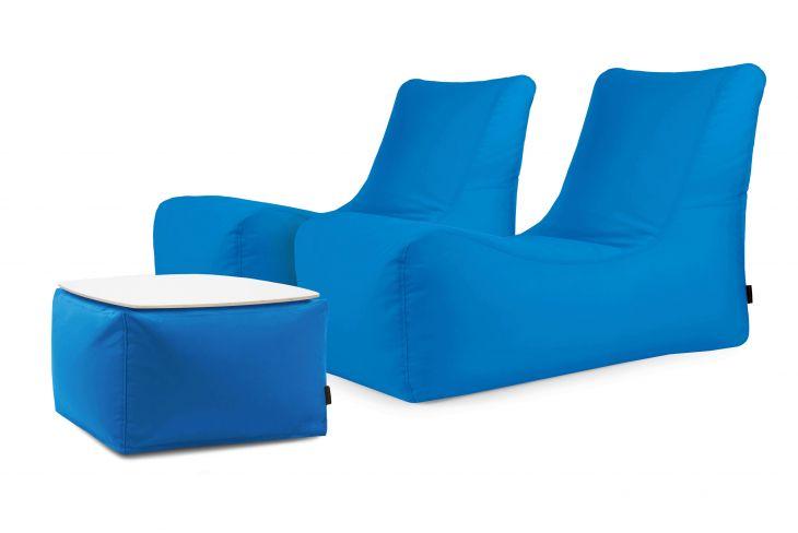 Sitzsack Set Restful Colorin Azure