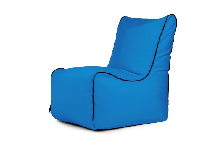 Bean bag Seat Zip Colorin Azure