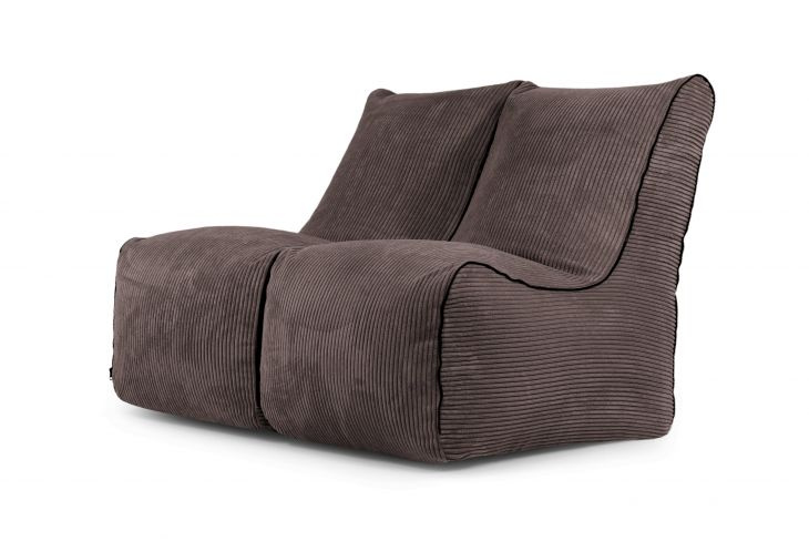 Sėdmaišių komplektas - Set Seat Zip 2 Seater Waves Chocolate
