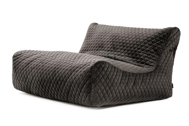 Sitzsack Bezug Sofa Lounge Lure Luxe grau