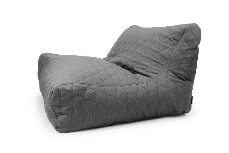 Sitzsack Bezug Sofa Lounge Quilted Nordic grau