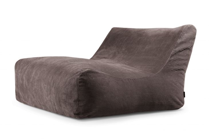 Bean bag Sofa Lounge Waves Chocolate