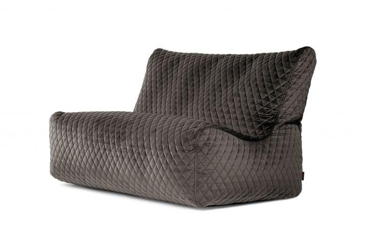 Sitzsack Bezug Sofa Seat Lure Luxe grau