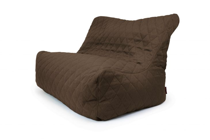 Sitzsack Sofa Seat Quilted Nordic Chocolate
