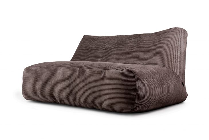 Bean bag Sofa Tube 160 Waves Chocolate