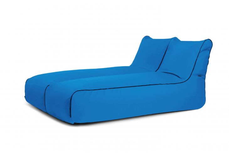 Sitzsack Set - Set Sunbed Zip 2 Seater Colorin Azure