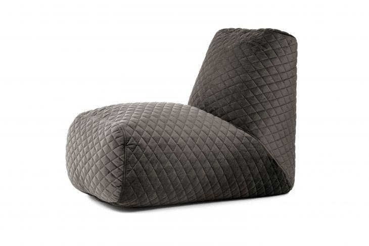 Sitzsack Bezug Tube Lure Luxe grau
