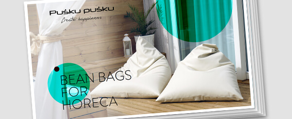 Pušku pušku bean bags for hotels, cafes, and bars