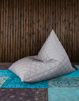 Bean bag Razz Quilted Nordic Concrete