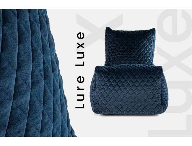 NEWS! Lure Luxe - charming and stylish velour bean bags