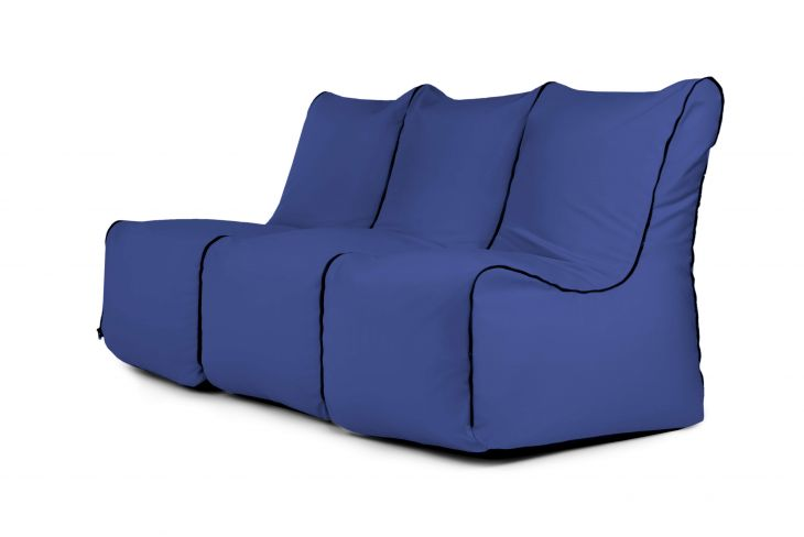 Sėdmaišių komplektas - Set Seat Zip 3 Seater Colorin Blue