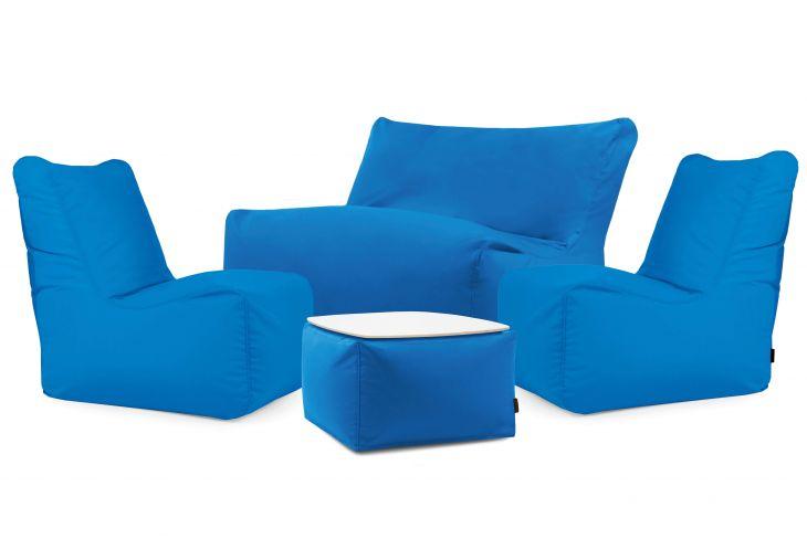 Un set di poltrone sacco Happy Colorin Azure