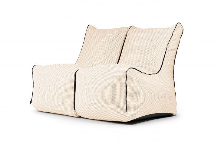 Sitzsack Set - Set Seat Zip 2 Seater Capri Beige