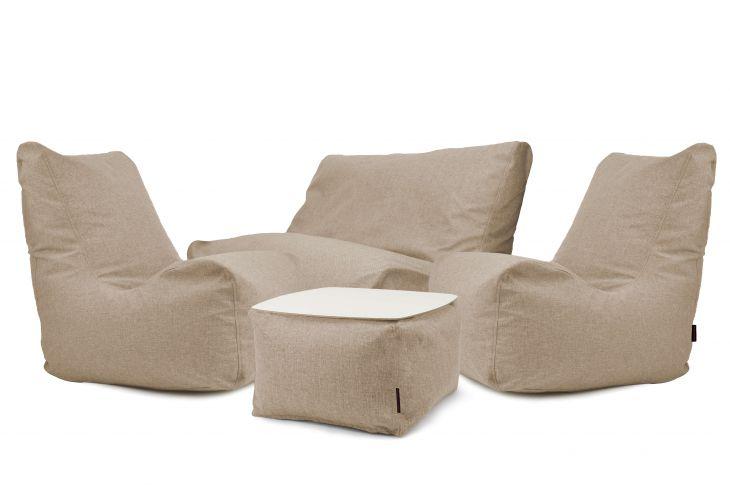 Sitzsack Set - Happy Home Braun