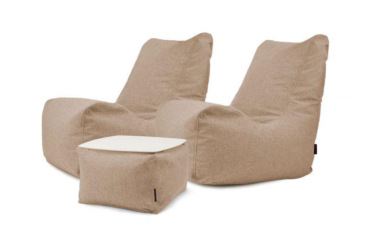 Sitzsack Set - Lucky Home Braun