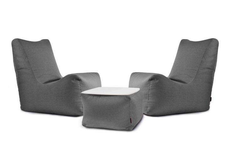 Sitzsack Set - Lucky Nordic Grau