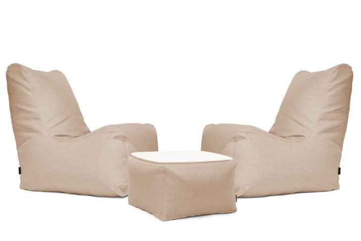 Sitzsack Set - Lucky Riviera Braun