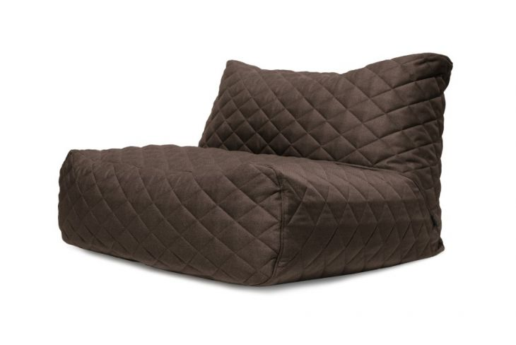 Bean bag Sofa Tube Quilted Nordic Chocolate