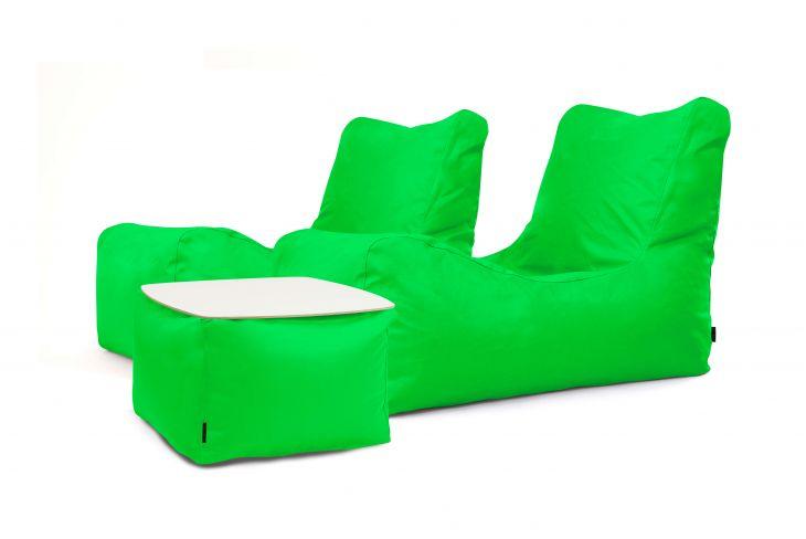 Sitzsack Set - Restful OX Apfelgrün