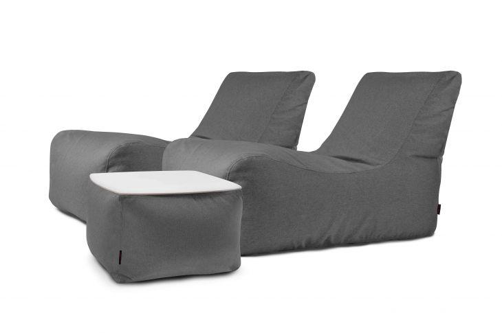 Sitzsack Set - Restful Nordic Grau