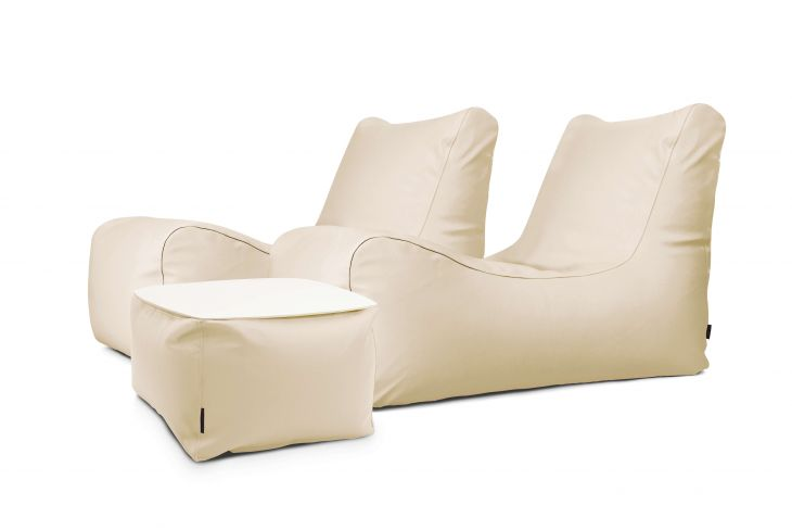 Sitzsack Set Restful Outside Beige