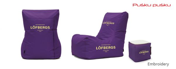 Embroidery on LOFBERGS bean bag
