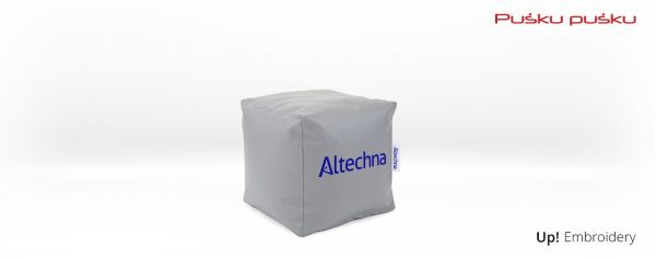 Embroidery on ALTECHNA bean bag
