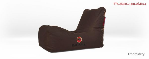 Embroidery on BACARDI bean bag