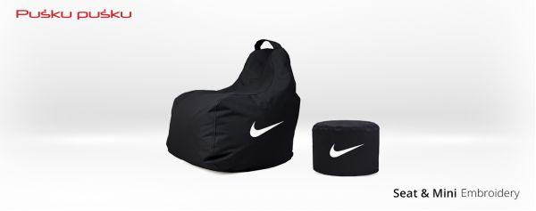 Embroidery on NIKE bean bag