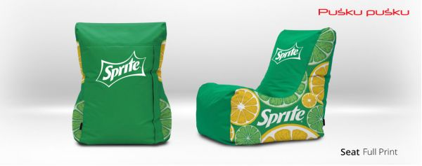 Full print on SPRITE bean bag