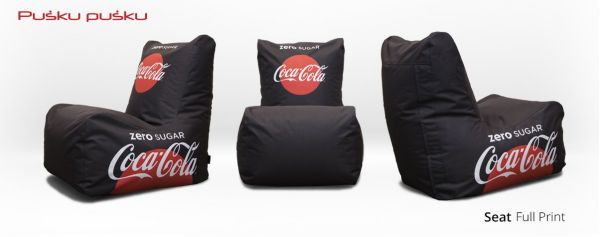 Full print on COCA COLA bean bag