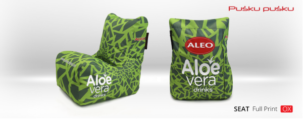 Full print ALOE VERA bean bag