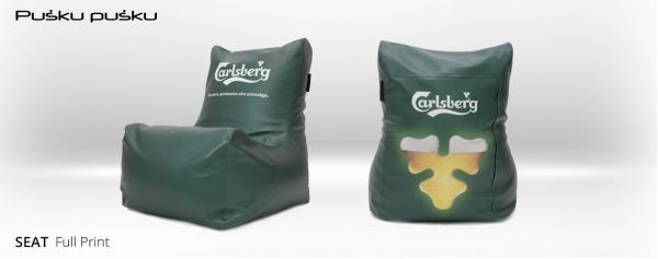 Full print on CARLSBERG bean bag