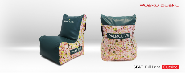 Full print on PALMOLIVE bean bag