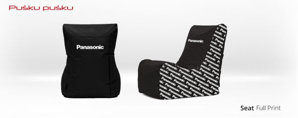 Full print on PANASONIC bean bag