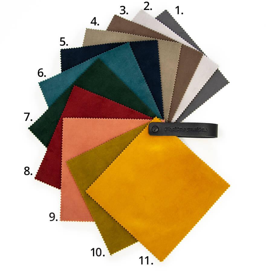 Barcelona - weicher und prachtvoller Velourstoff in 11 Farben.