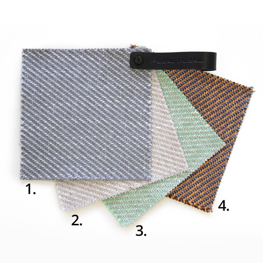 Sideway - luftdurchlässiger, natürliche Materialien enthaltender Stoff.