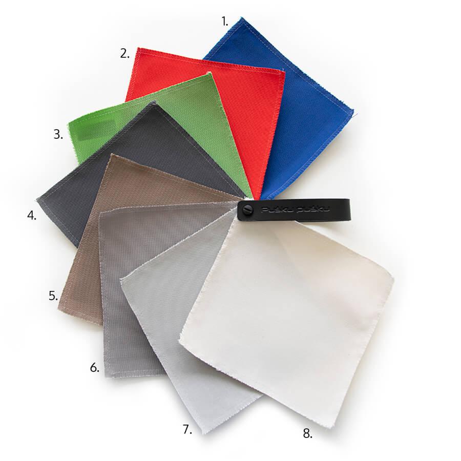 Farbenpalette fuer den Stoff Colorin