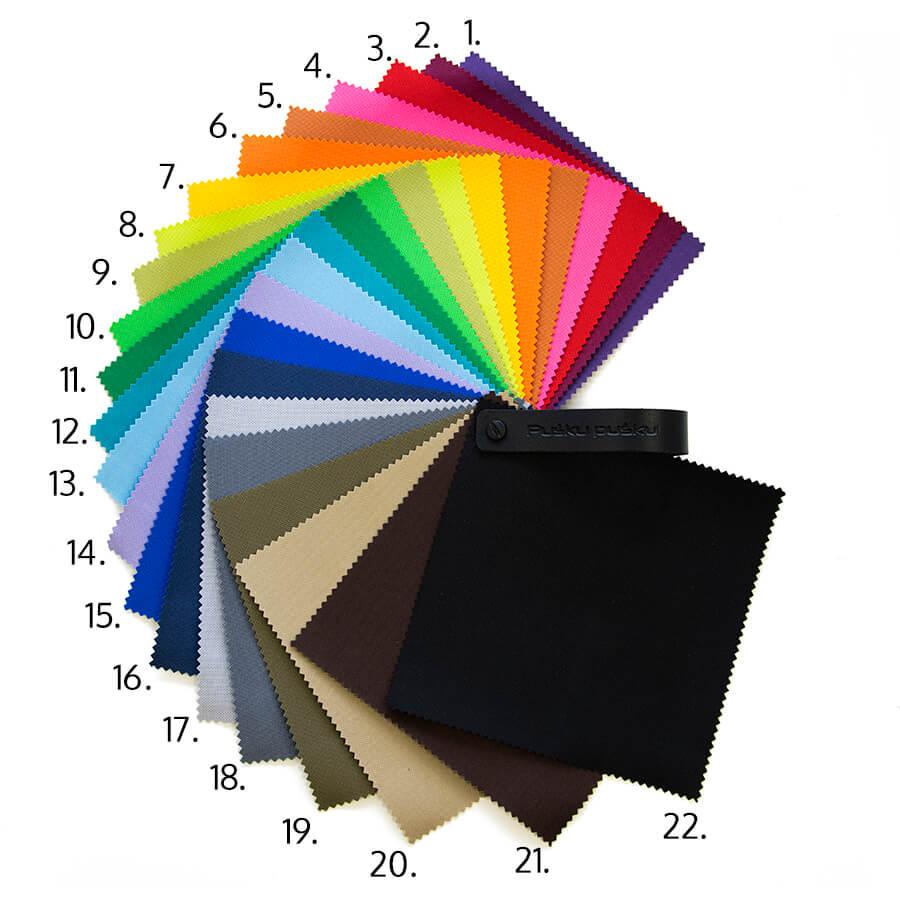 Der Stoff OX - farbenfreues Material in vielen Farben.