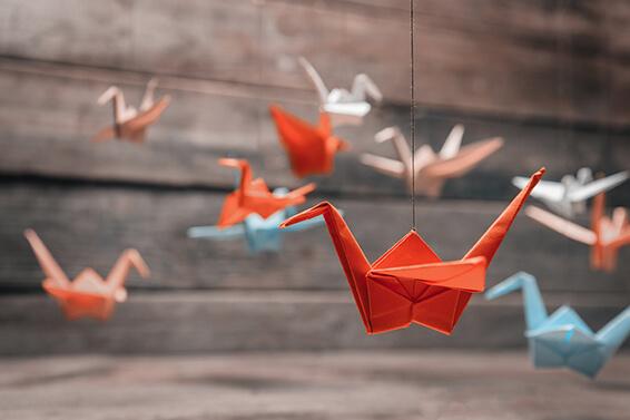 Origami Vogel zu Hause falten -Tipp von Pusku pusku.